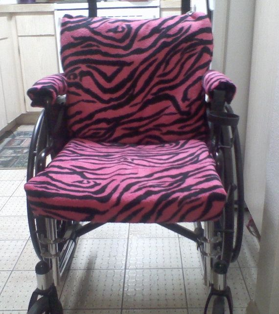 Handmade Wheelchair Seat Cover Set Black Pink By