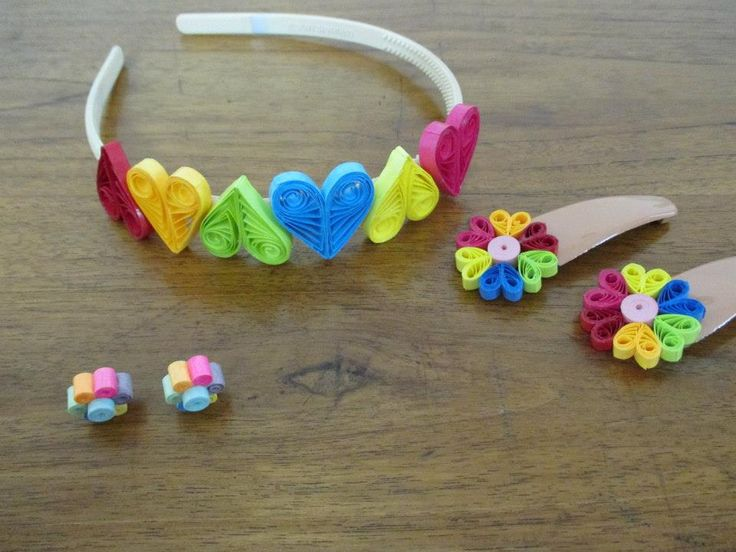 THE ENCHANTED FOREST ...  Paper Boutique ~ The Princess Diaries ( Paper Quilled Headband, Hairclips )