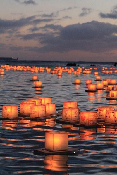 lanternes flottantes