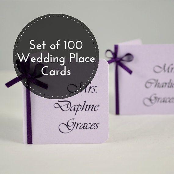Carte di nome posti a sedere  luogo di nozze 100 di PaperWhispers