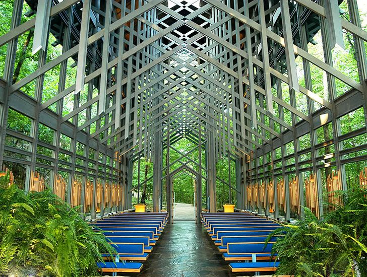 Eureka Springs' Open-Air Thorncrown Chapel is a Paragon of Environmental Design Thorncrown Chapel by E. Fay Jones – Inhabitat - Green Design, Innovation, Architecture, Green Building
