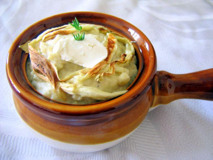 Поль на выдумки хитра - Пюре из картофеля и баклажанов с козьим сыром