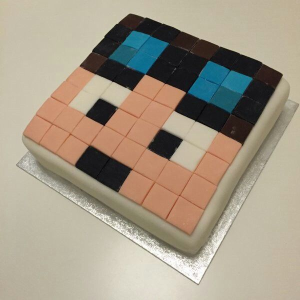 The diamond minecart cake must eat it!