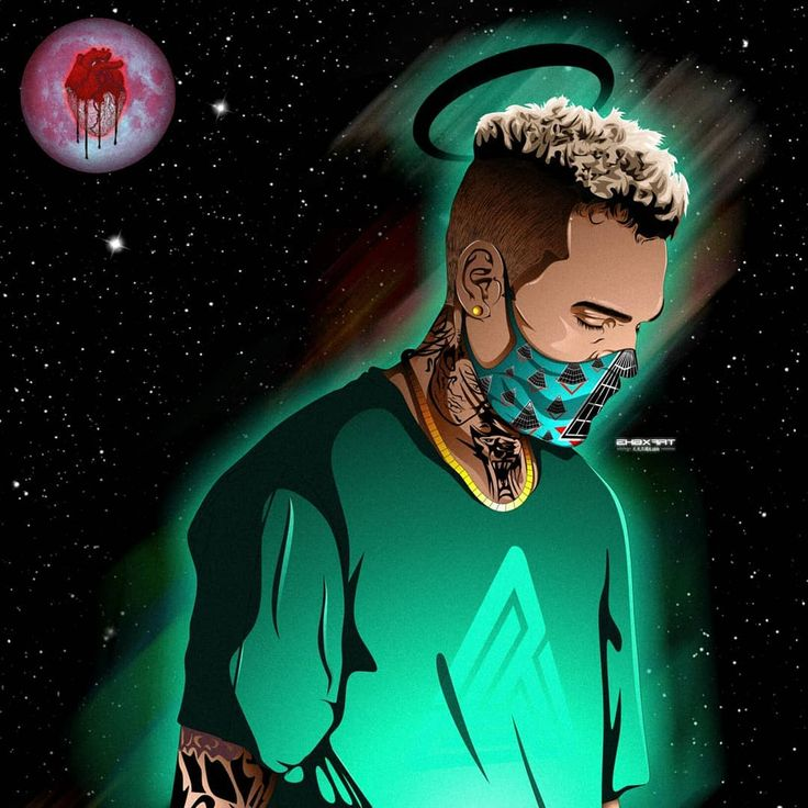 "God Toons  (@ekbxart) on Instagram: "" it's because of you @chrisbrownofficial @blackpyramidofficial  Artwork: @ekbxart …"""