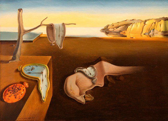 V/ LE XXe SIÈCLE ET L'ART CONTEMPORAIN LE SURRÉALISME Dali La persistance de la mémoire (les montres molles) 1931