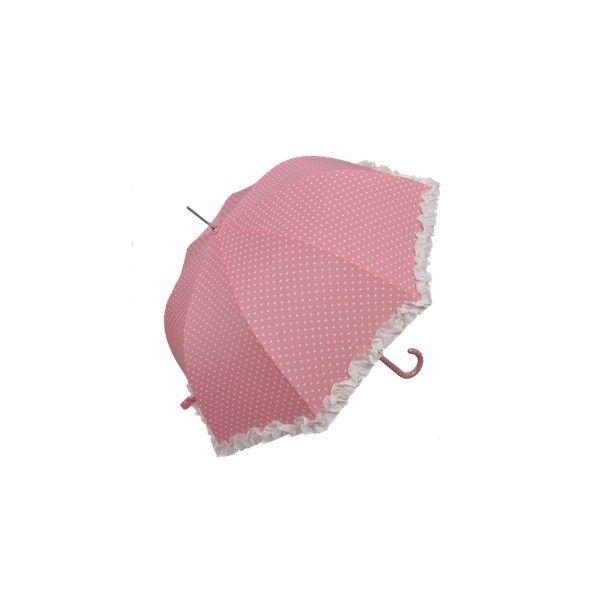 Roze vintage paraplu met hartjes