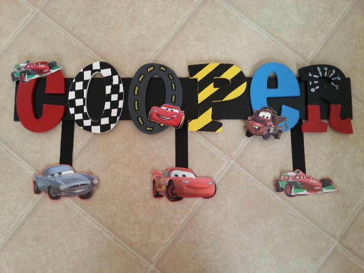 disney cars handmade wooden name sign things i personally made pinterest disney cars name signs and wooden names