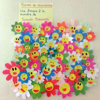 Des fleurs de printemps, à la manière de Takashi Murakami