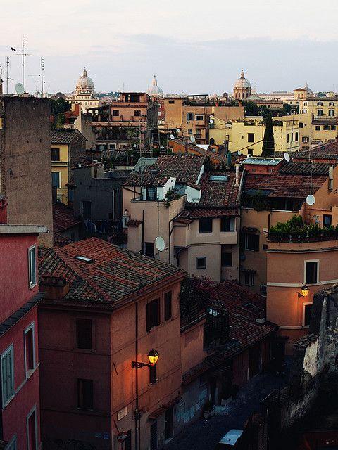 Three domes of Trastevere