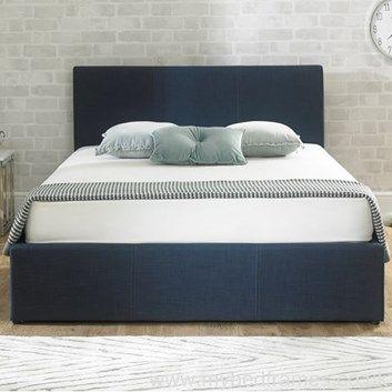 Stirling #denim blue ottoman #bed frame from MyBedFrames