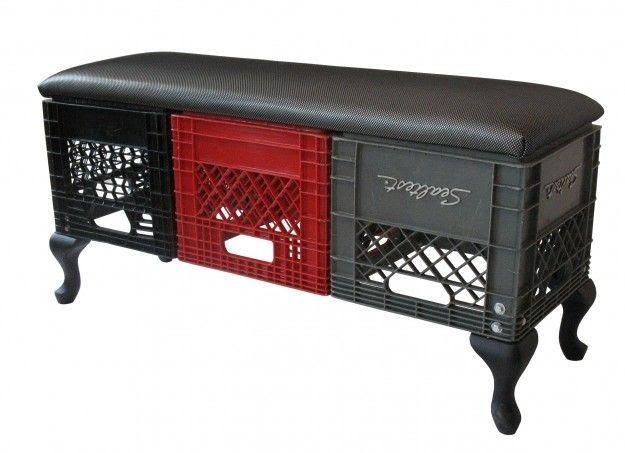 milk crate bench