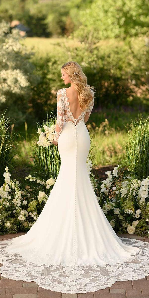 30 Stunning Long Sleeve Wedding Dresses For Brides Wedding Dresses Guide In 2020 Lace Wedding Dress With Sleeves Long Sleeve Mermaid Wedding Dress Long Wedding Dresses