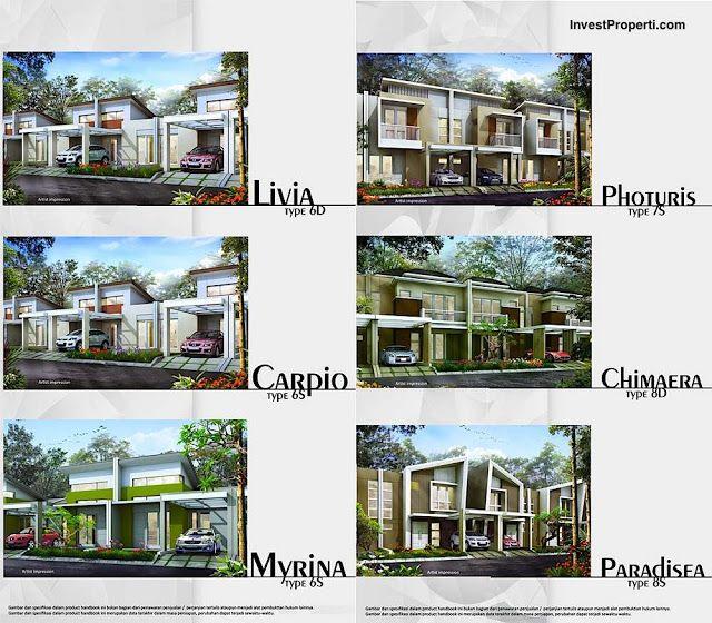 Tipe rumah cluster Vitis Estate Orchard Park Batam.