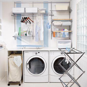 Aménager une salle de lavage multifonctionnelle - côté lavage de la salle de bain du haut