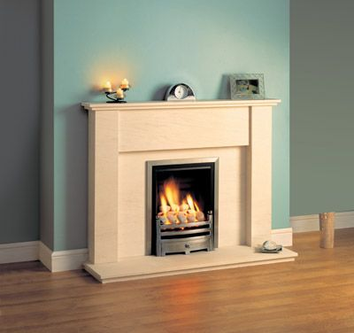 Magiglo Duo Power Flue gas fire with rear vent