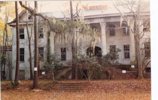 Hilton Head Island, South Carolina, USA Mansion abandoned to Nature.