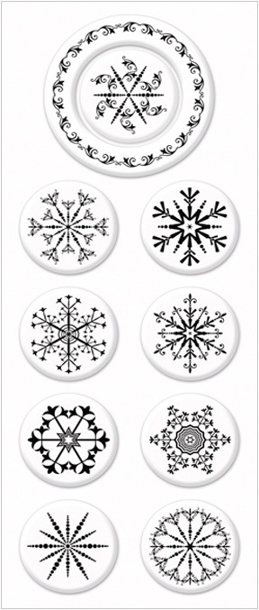 PSA Fancy Flakes Peel & Stick® Interchangeable Stamp Collection - Expressionery