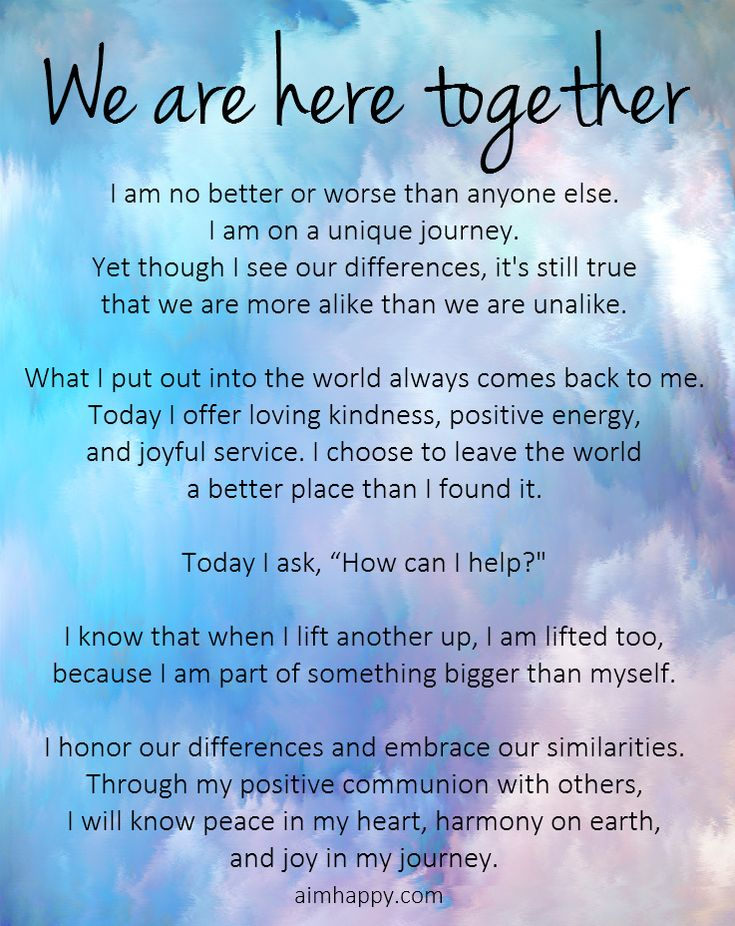 A Healing Affirmation for Togetherness | positive thoughts