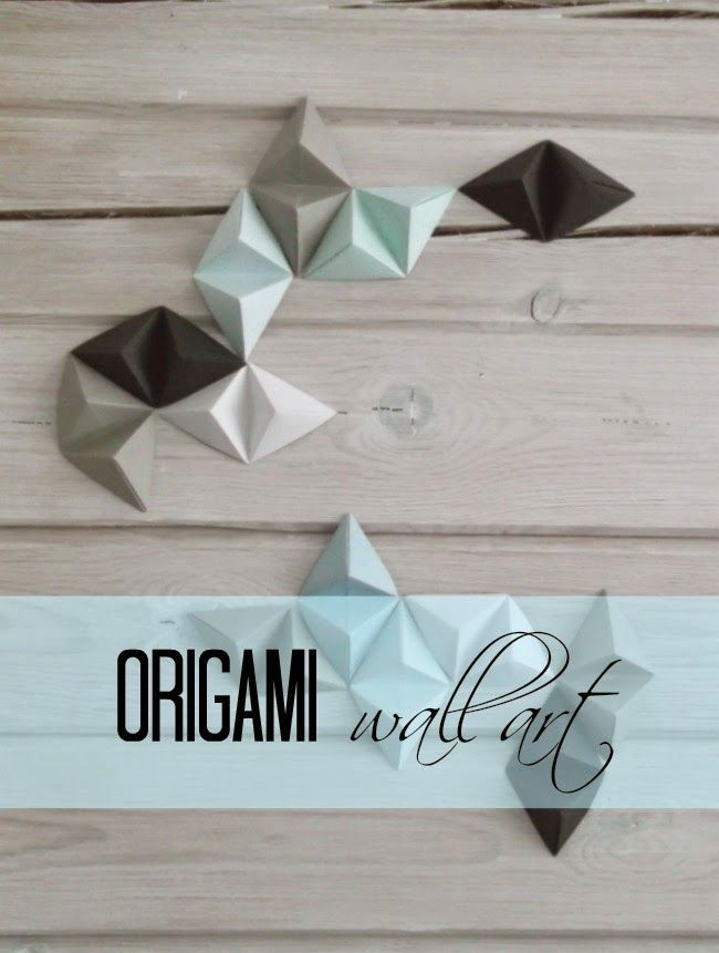 Best 25 origami wall art ideas on pinterest paper wall for Origami decorations for your room