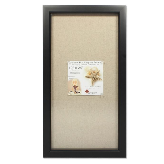 Lawrence Frames Linen Lined 10 Inch X 20 Inch Shadow Box Frame Lawrence Frames Shadow Box Picture Frames Box Picture Frames