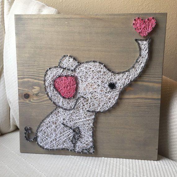 Custom Baby Elephant String Art Sign, Nursery decor, Baby shower gift, Jungle animals, Baby girl, Baby Boy, Elephant gift, Twins Present – Nápady na darčeky