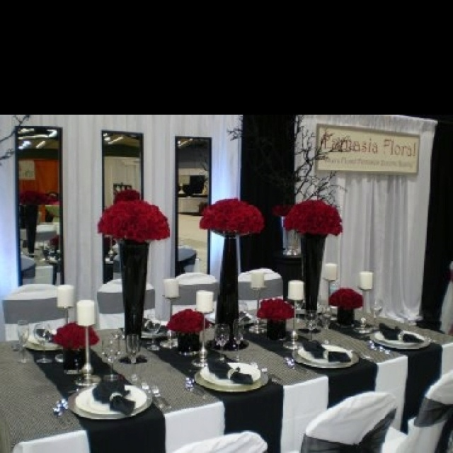 28 best Black white red party decor images on Pinterest