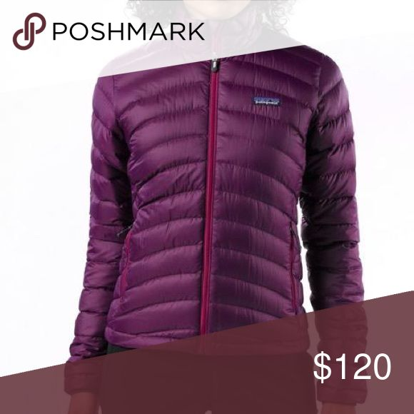 Patagonia Down Sweater Jacket - Purple/Magenta WILLING TO TRADE FOR OTHER PATAGONIA  >> Purple body; magenta zip/lining >> Excellent used condition >> Zip/lining color shown best in last picture  >> Superlight, windproof shell fabric with high tear-strength and water repellent finish >> Quilted construction stabilizes 800-fill-power premium European goose down >> Two outer pockets with water repellant zippers >> Internal zippered stretch-mesh self-stuff pocket with carabiner clip loop…
