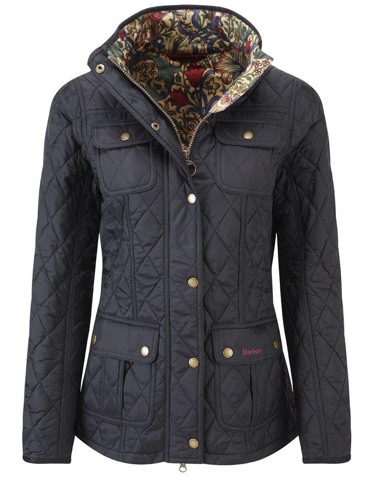 #Barbour Ladies' Morris Utility Quilt Jacket – Black/Golden Lily LQU0568BK91 #Jacket #AW14