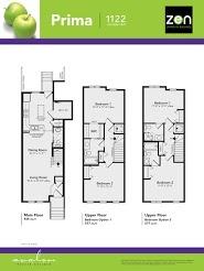 Prima floorplan in Auburn Bay, Calgary AB
