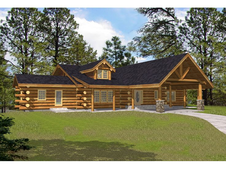 Log House Plan Front of Home for Home Plan also known as the Keystone Ridge Luxury  Log Home from House Plans and More 107 best Log Cabins images on Pinterest   Log cabins  Log homes  . Luxury Log Home Designs. Home Design Ideas