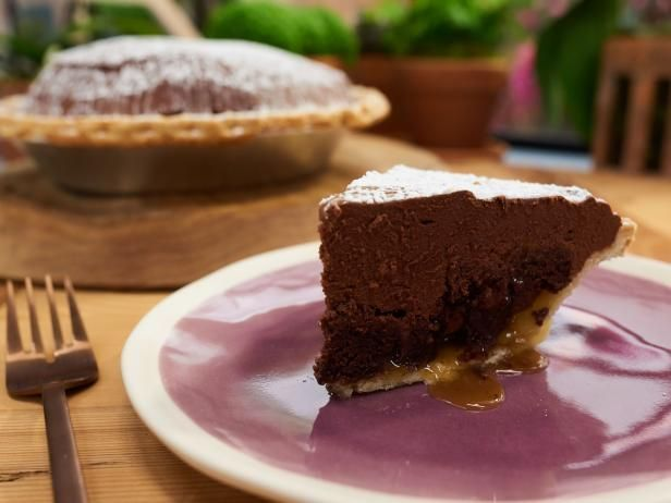 Get Mama Pat's Chocolate Brownie Pie Recipe from Food Network
