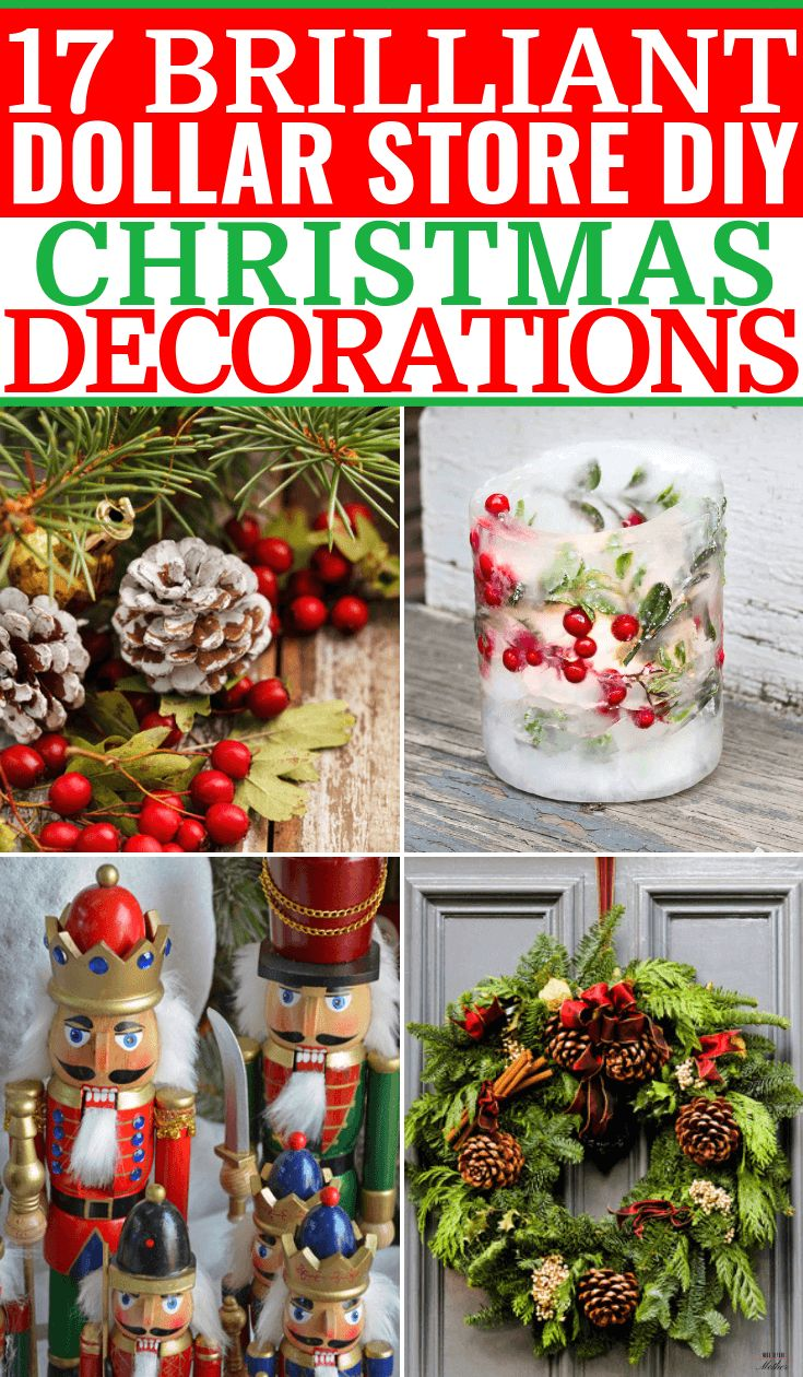 25 DIY Dollar Store Christmas Decorations & Crafts