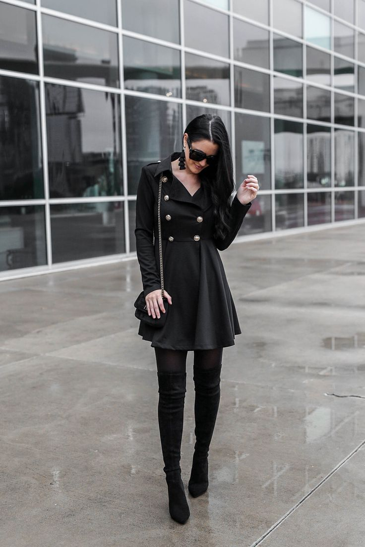 Tips On How To Wear A Black Trench Coat Dress Dressed To Kill Fashion Trench Coats Women Trench Coat Dress [ 1104 x 736 Pixel ]