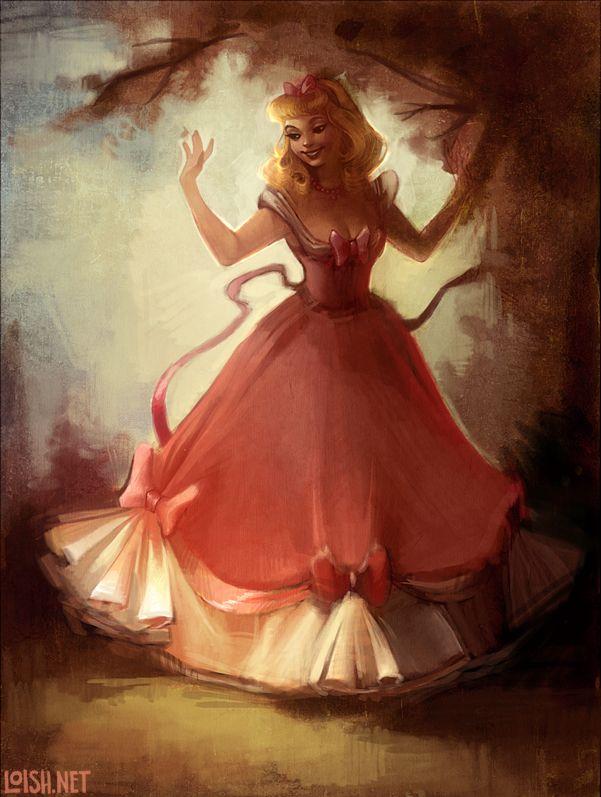 CinderellaSleep Beautiful, Cinderella Disney, Disney Princesses, Canvas Art, Pink, Princesses Aurora, Fans Art, The Dresses, Colors Pages