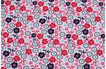 Bavlna se vzorem květin 6491/063