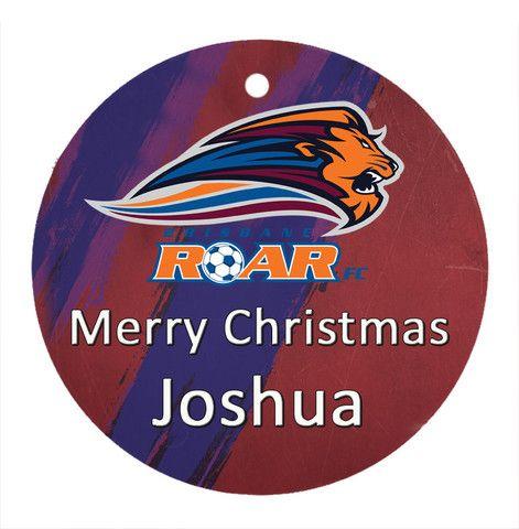 Personalised Christmas Tree Ornament Soccer Brisbane Roar