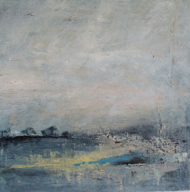 abstract landscape 26cms X 26cms acrylic on canvas - one of a series of six