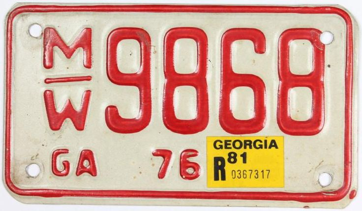 1981 Motorcycle License Plate Motorcycle license