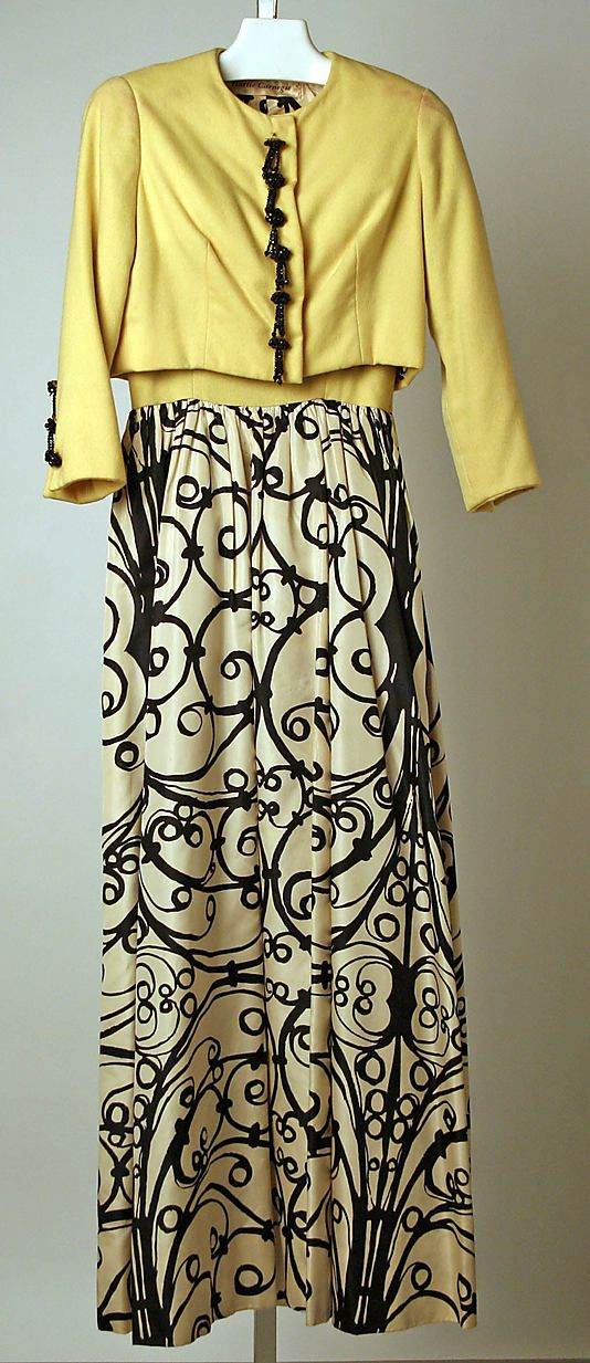 Dress, Evening  Hattie Carnegie, Inc. (American)  Date: 1950s Culture: American Medium: wool, silk