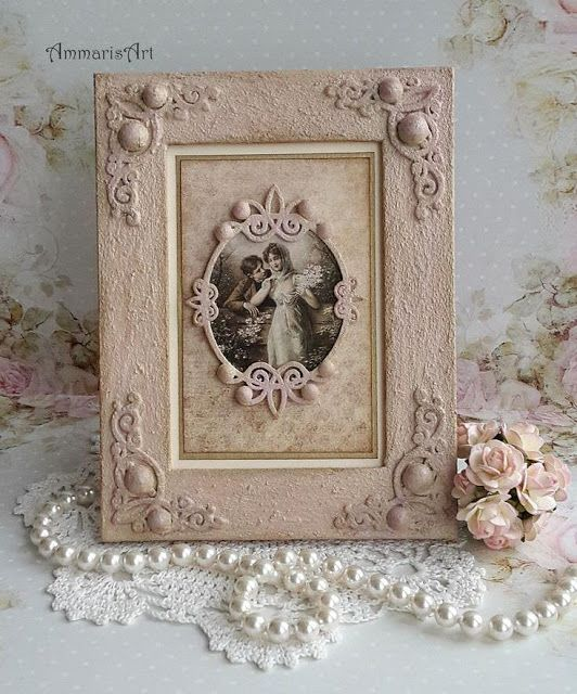 Romantic shabby chic frame