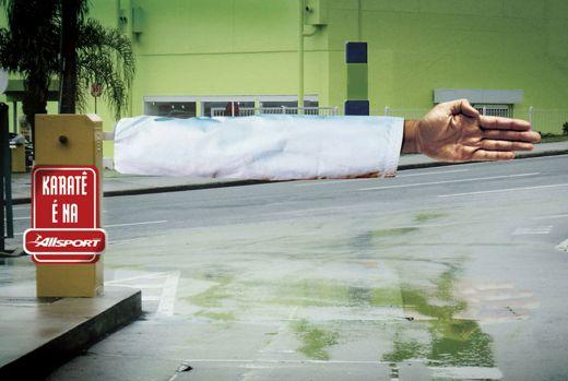 Karate; Sports; Advertising; Publicidad; Creatividad; Street Marketing