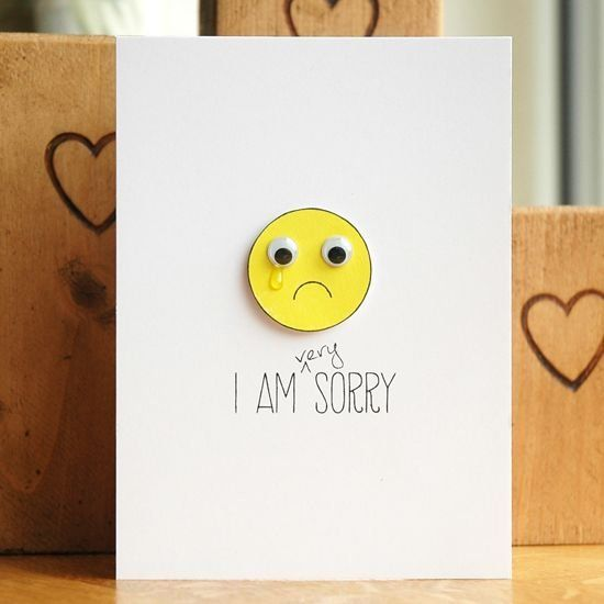 11 best apologyim sorry cards ideas images on pinterest cards wiggle eye im sorry card tutorial m4hsunfo