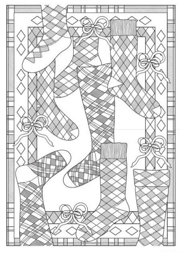 Creative Haven Tartan Designs Coloring Book Dover Publications