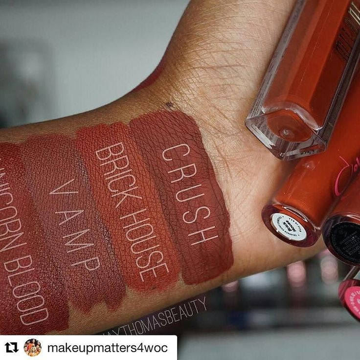 Who else loves a deep red lipstick? #Repost @makeupmatters4woc (via @repostapp) Comparison swatch time from @jaythomasbeauty ! Let's get into these seductive reds!! Shades: 1. Crush- @milanicosmetics 2. Brick House- #colouredraine 3. Vamp- @anastasiab