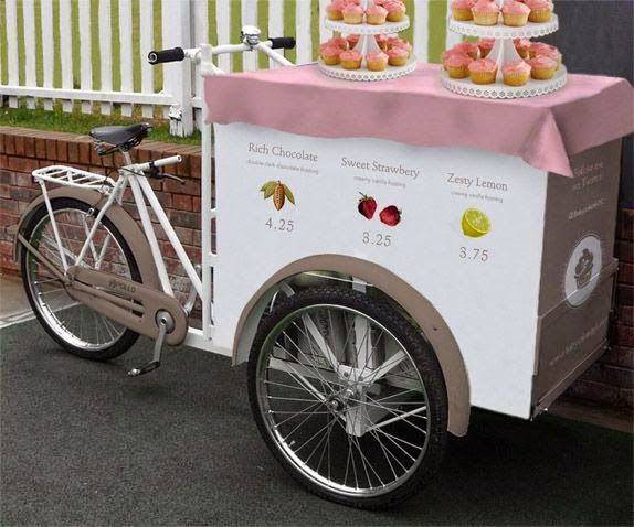 Food Bike Triciclo Space para cupcakes