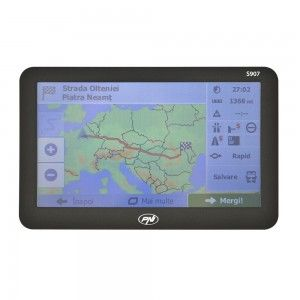 "Sistem de navigatie PNI S907 HD, diagonala 7"", Harta iGO Primo Full Europe + actualizari gratuite"