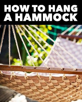 It's easy to hang a hammock if you have the know-how and the right materials. Get started now so you can get in some quality leisure time today.