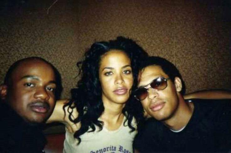 Aaliyah, Aaliyah's hair stylist Eric Foreman, and her brother Rashad (R.I.P to Aaliyah & Eric )