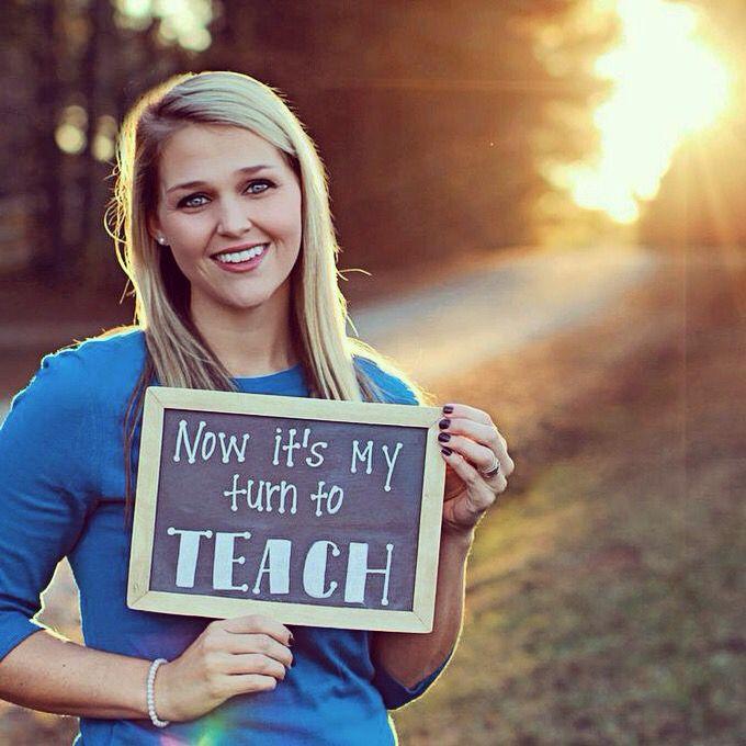 "Education Major Graduation Invite idea. future teacher ""now it's my turn to teach"""