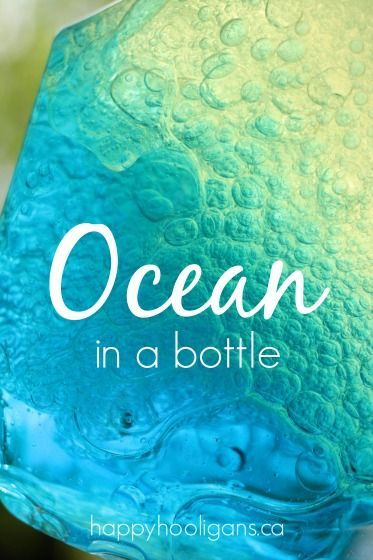 Ocean in a Bottle with 3 Simple Ingredients - Happy Hooligans:
